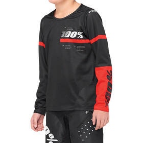 100% R-Core DH Jersey Jongeren, black/red